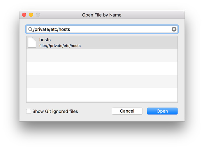 Aprire il file hosts su mac con BBEdit