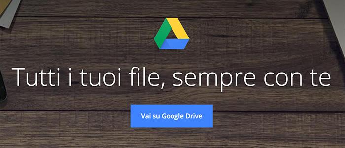 Google Drive schermata iniziale