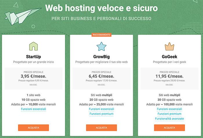 Miglior hosting WordPress SiteGround