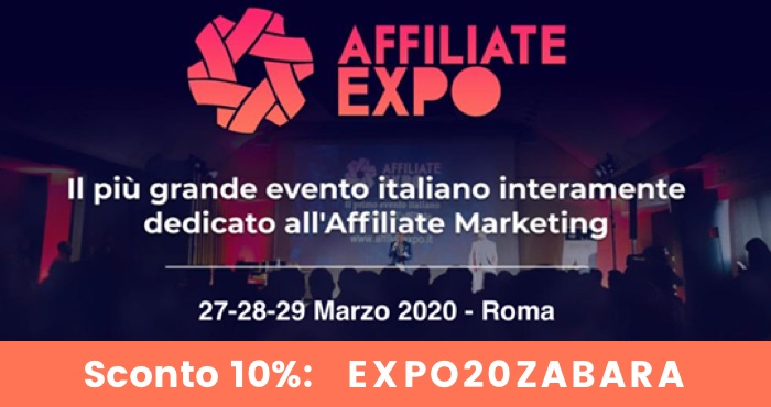 Affiliate Expo Roma Coupon