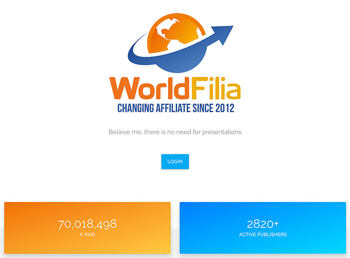Worldfilia login