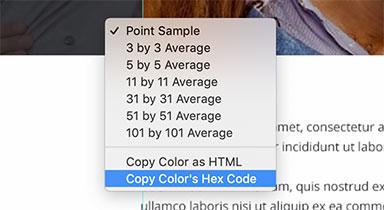 Selezione color eyedropper contagocce photoshop